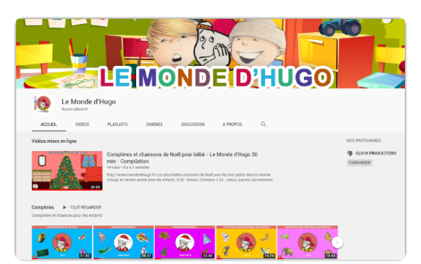 Hugo sur You Tube
